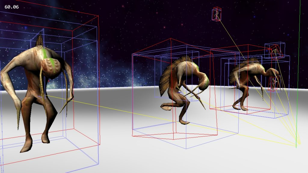 FlexiGame Screenshot: Mesh skinning and animations